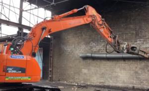 demolition Herstal hall industriel video