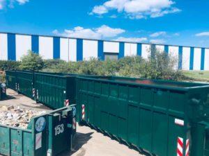 conteneur container liege nouveau centre de tri demolition
