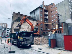 demolition bruxelles immeuble