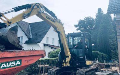 Démolition d'une annexe et travaux de terrassement