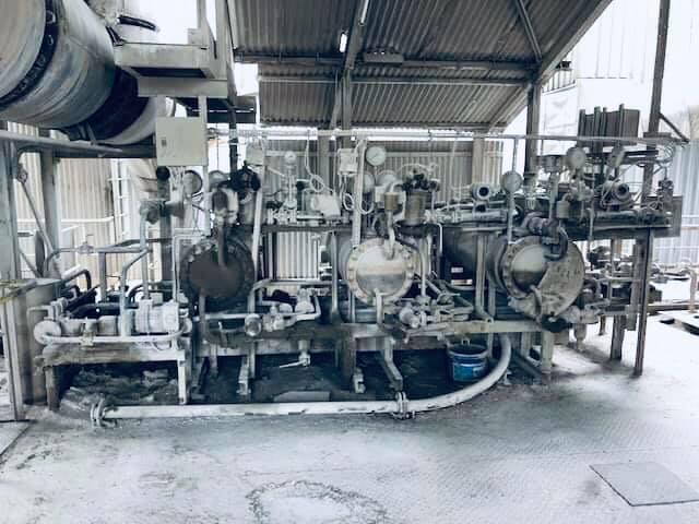 Démontage d'un préchauffeur industriel