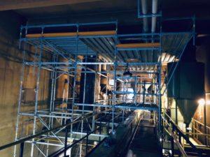 percement toiture batiment industriel