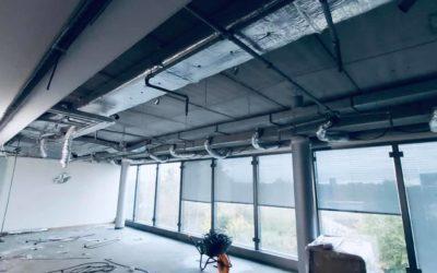 Mise à blanc d'un bâtiment tertiaire