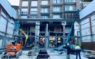 Travaux d'oxycoupage de structure métallique en centre ville avec un accès très limité !