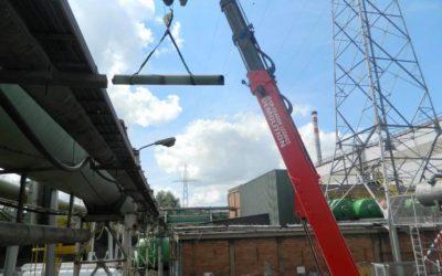 Nos Manitou MRT et nacelle JLG en action pour un démontage de tuyauterie industriel