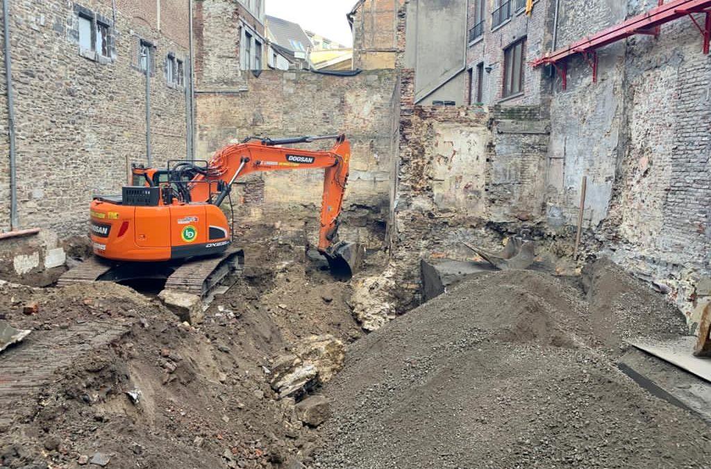 Déconstruction en plein centre-ville de Liège