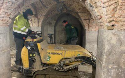 Travaux en sous-sol au Fiacre de Liège