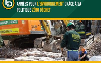Legros Démolition agit pour l'environnement