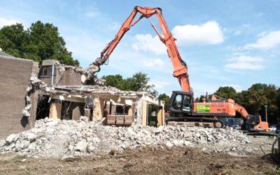 Travaux sur le chantier de transformation et d'extension de la piscine de Huy
